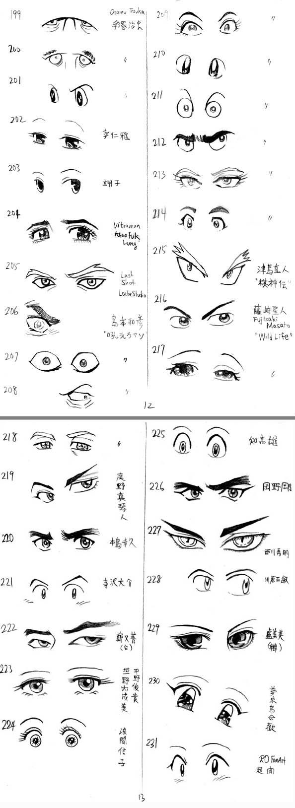 12 Useful Eyes Drawing References and Tutorials | Welcome to Freaksigner