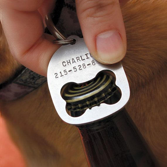 Personalized Dog Collar Tag Bottle Opener by poptag on Etsy, $16.00