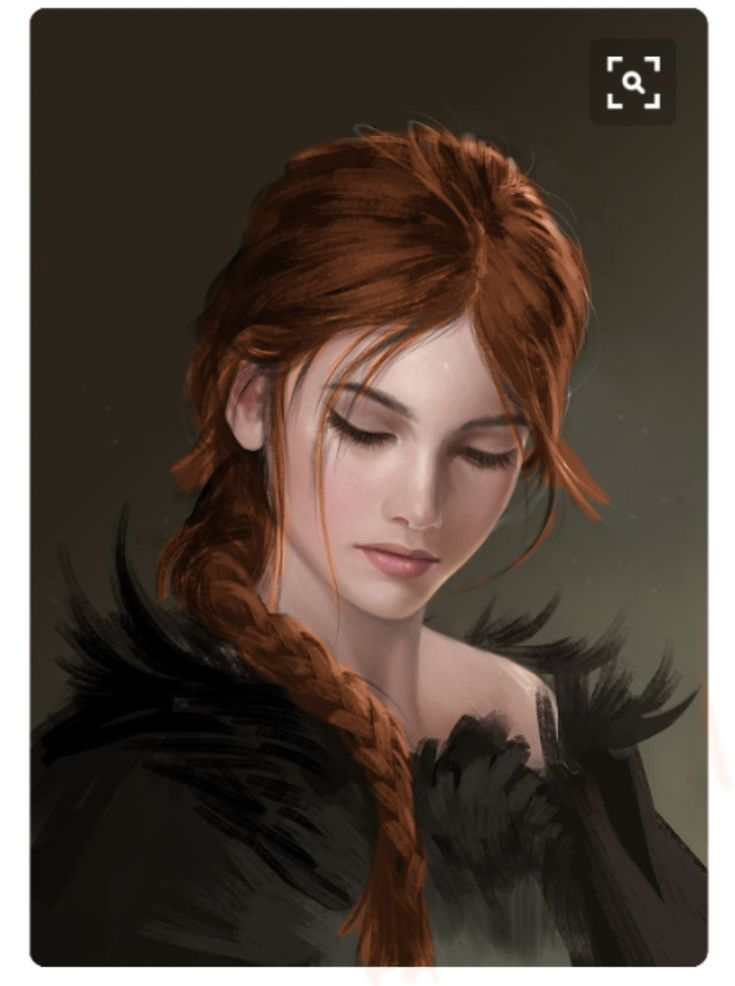 girl with red hair. face 12