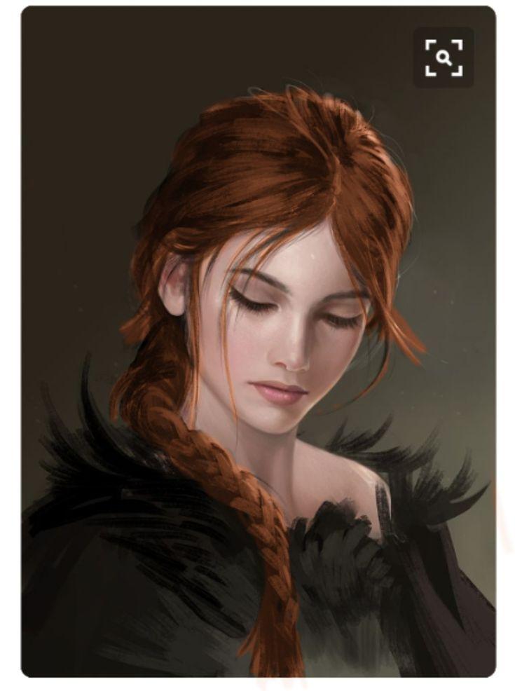 Girl With Red Hair Face 12 By Sandara  Art  Fantasy Art -4553