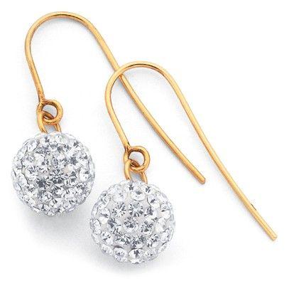 9ct Crystal Earrings