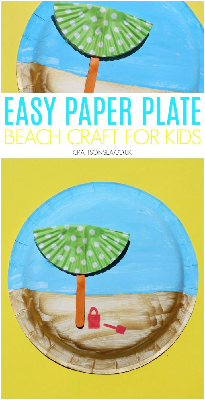Paper Plate Beach Craft for Kids