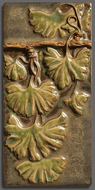 Terra Firma offers a complete line of Handmade, Stoneware Tile Ginkgo 4