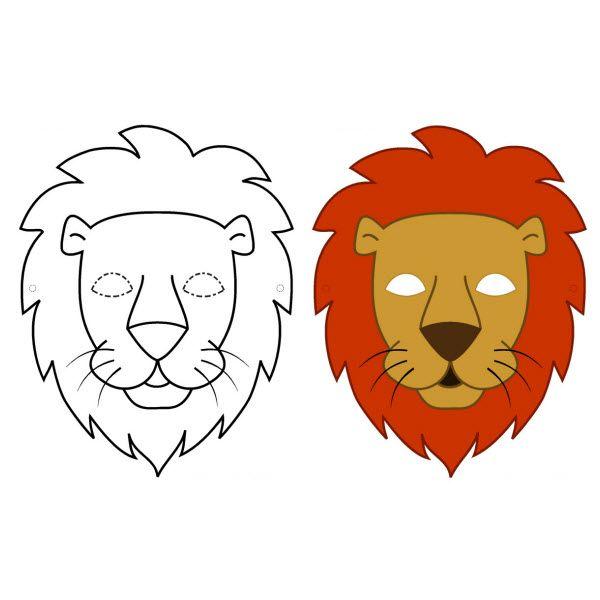 Masque de lion à télécharger