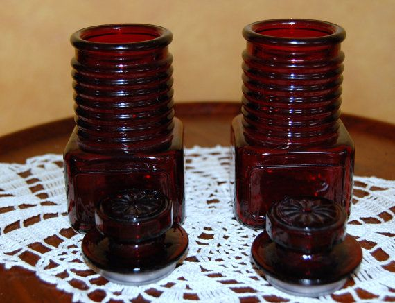 Ruby Red Spice Jars from Wheaton Glass | South Jersey