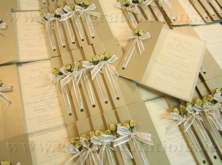 "The ""Silk Gold"" Wedding Stationery Collection"
