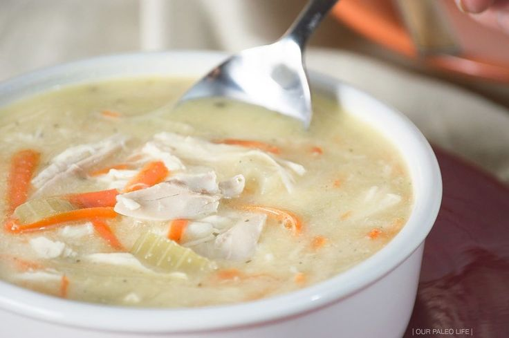 Don't skip this classic comfort food because of dairy and grains. This dairy-free, grain-free, paleo-friendly chicken noodle soup is as good as the original.