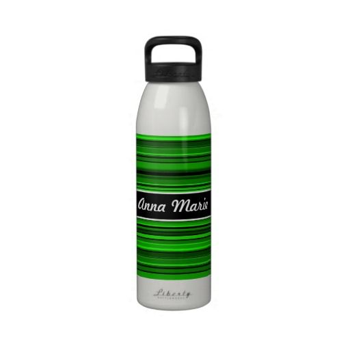 Green Stripes Personalized Water Bottle We have the best promotion for you and if you are interested in the related item or need more information reviews from the x customer who are own of them before please follow the link to see fully reviewsThis DealsReview from Associated Store with...