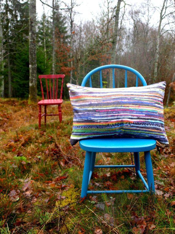 Pillowcover  Skandinavian traditional ragrug by travelingpillow, $33.50
