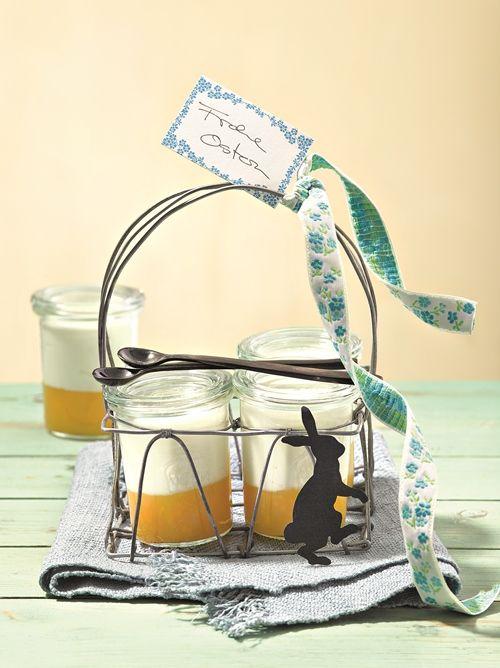 Fruchtige Komposition aus cremigem Pudding und Maracuja zum Verwöhnen.