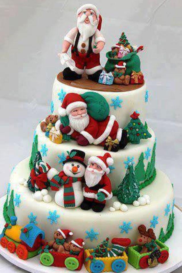 Xmas Cake Decorations Uk : 40 best Christmas / Winter Wedding Cakes images on ...