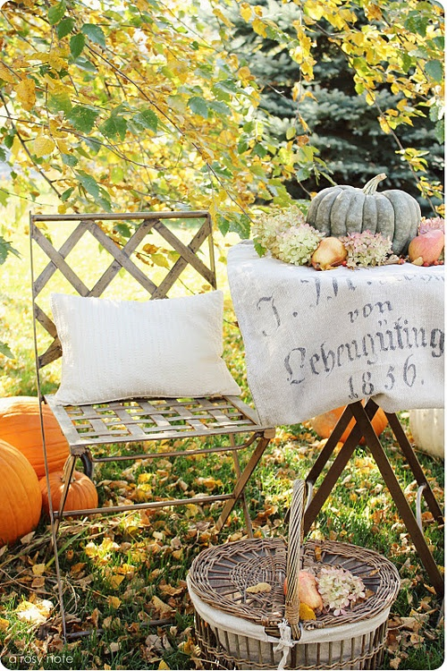 .: Holiday, Decorating Ideas, Fall Decorating, Garden, Autumn Table, Rosy Note, Picnic