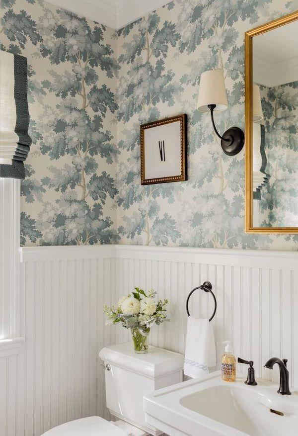 Bathroom Renovation Wallpaper Ideas And Inspiration The Zhush Bathroom Wallpaper Amazing Bathrooms Powder Room Wallpaper