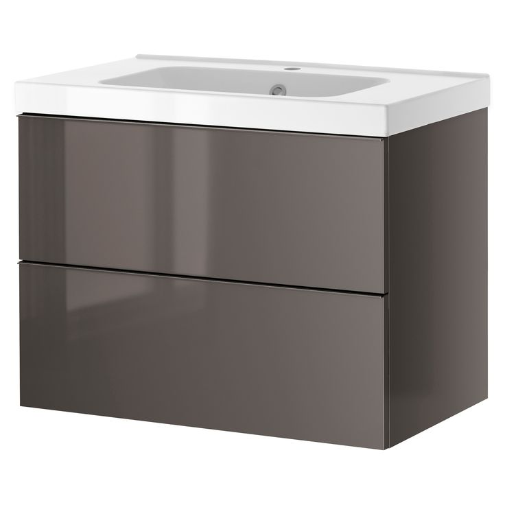 Godmorgon Odensvik Sink Cabinet With 2 Drawers Gray