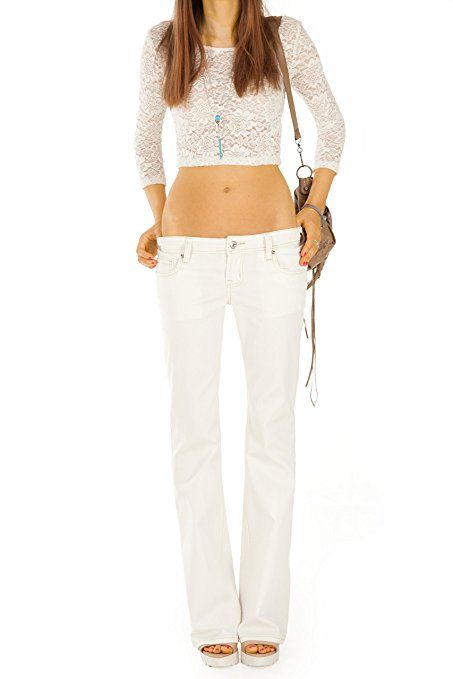 Bestyledberlin Damen Jeans Hosen, Bootcut Jeanshosen j181p-y 38/M: Amazon.de: Bekleidung