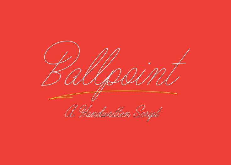 Ballpoint Script | Type Gang