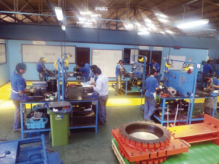 Algunas de las áreas del taller son el Desincrustado de equipos, Laboratorio de Instrumentación y Electrónica, Laboratorio de Calibración y  Laboratorio de Pruebas (estanqueidad y hermeticidad). Más las áreas comunes, como: Soldadura, Dimensionado de metales corte Plasma, Tornería y Pintura.