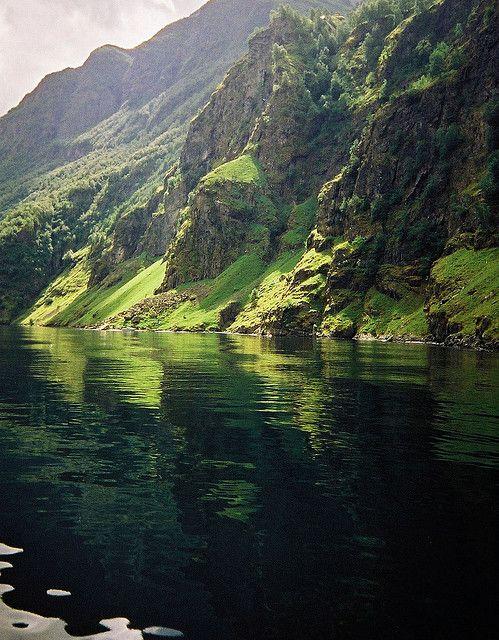 Green Fjord - Aurlandsfjord - Norway by malcolm bull, via Flickr