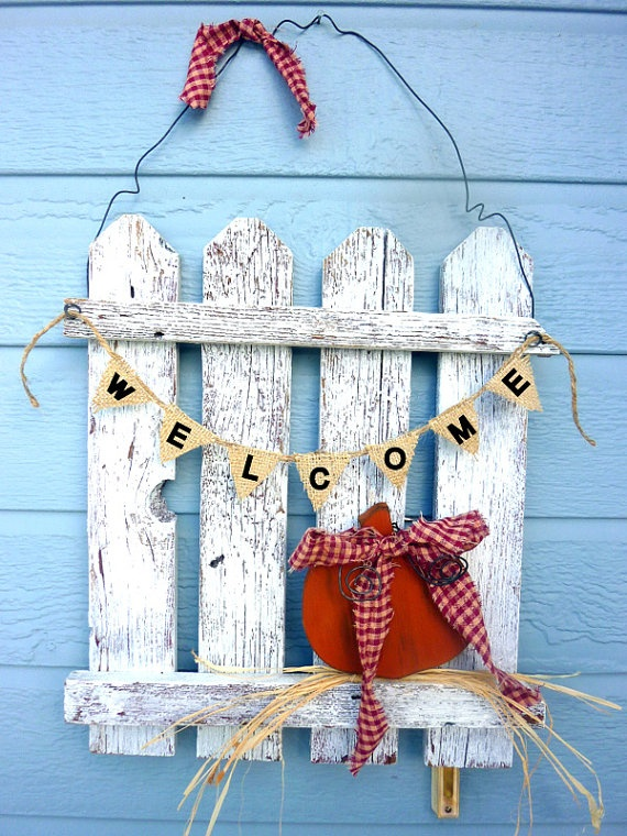 Autumn Picket Fence Decor