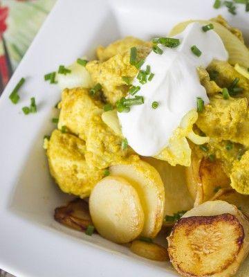 Wild diet RECIPES, DOZENS OF THEM.  Curried Chicken & Butter Fried Parsnips
