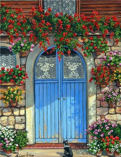Füsun Ürkün - Turkish painter #doors