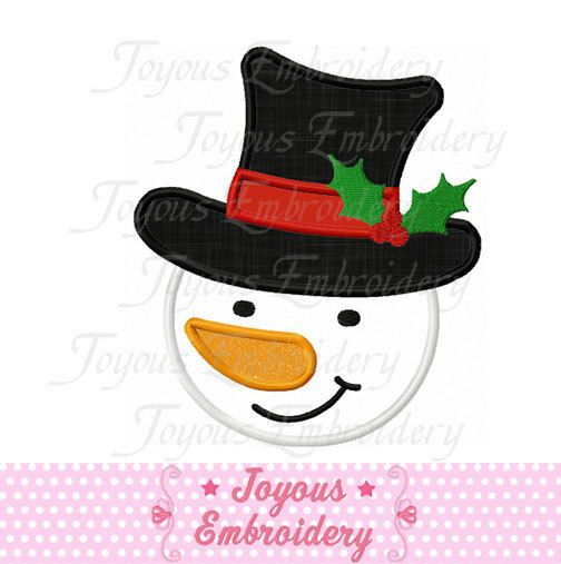Hey, I found this really awesome Etsy listing at https://www.etsy.com/listing/113987857/christmas-snowman-applique-machine