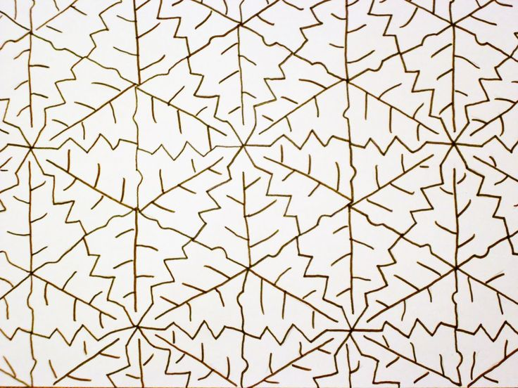 Almost Unschoolers: Fall Leaf Tessellation Coloring Sheet