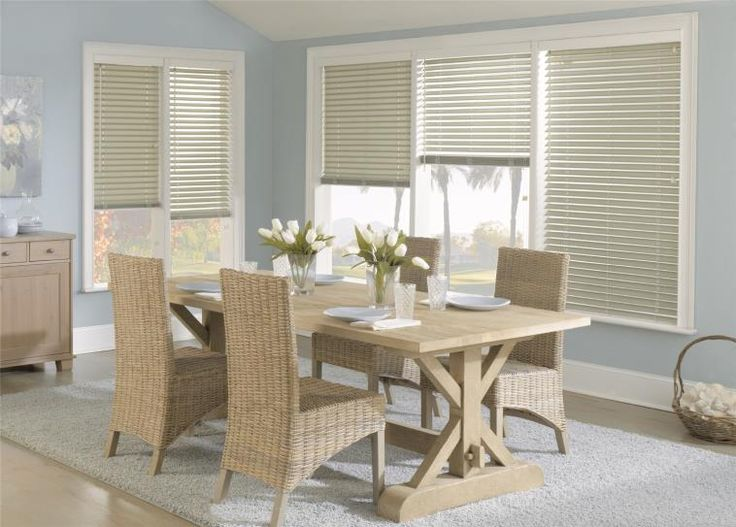 Fabric Blinds In Soft Green