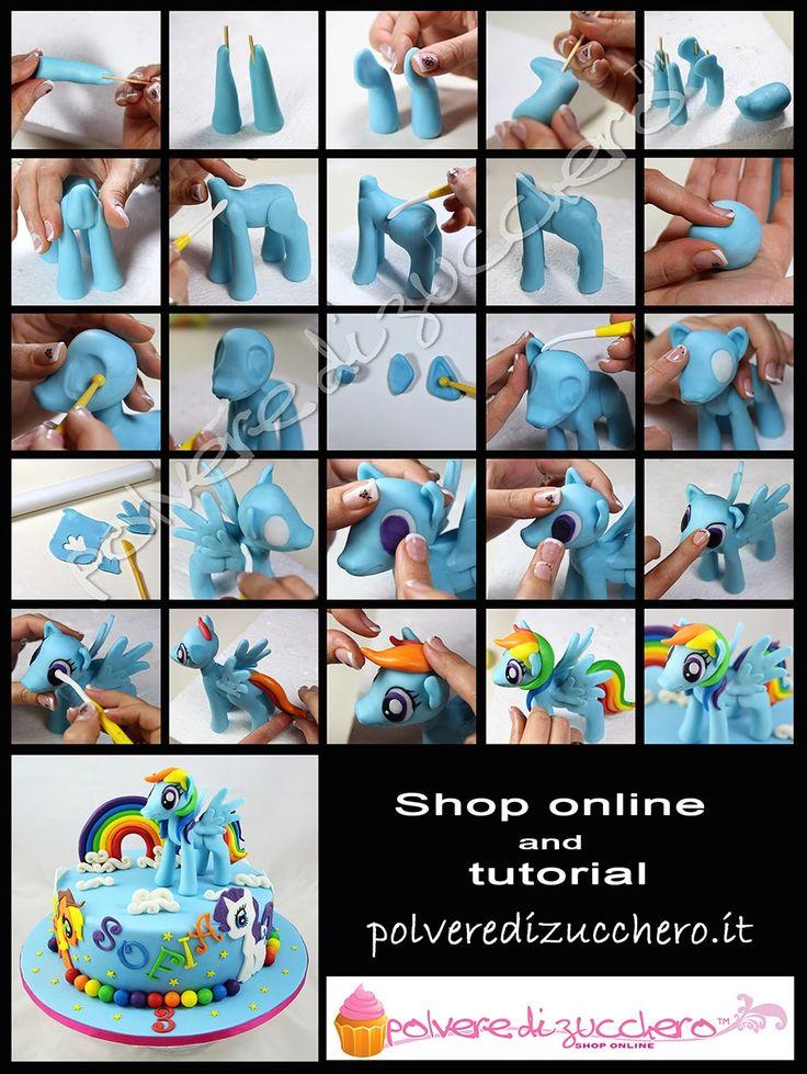 tutorial my little pony rainbow dash polvere di zucchero