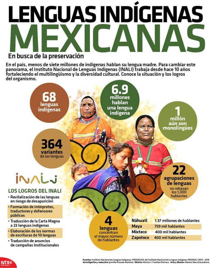 #Infografia #Lenguas #Indigenas #Mexicanas vía @candidman...  En el país, menos de siete millones de indígenas hablan su lengua madre.  Para cambiar este panorama, el Instituto Nacional de Lenguas Indígenas (INALI) trabaja desde hace 10 años fortaleciendo el multilingüismo y la diversidad cultural.
