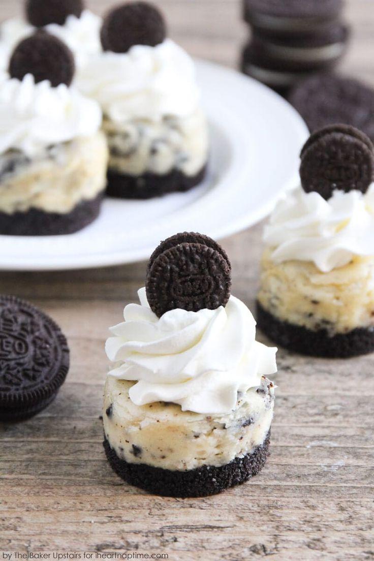 Mini oreo cheesecake recipe cookies cream cheesecake