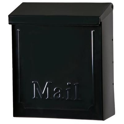 Gibraltar Mailboxes Townhouse Black Steel Vertical Wall