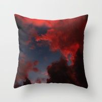 Colour Storm - Red Throw Pillow