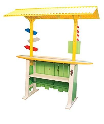 """Margaritaville Outdoor """"It's 5 o'clock Somewhere"""" Corrugated Roof Bar - Tropically Inclined"""