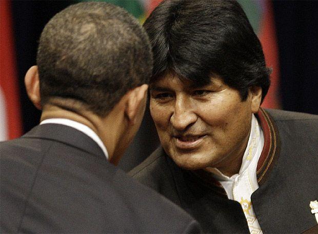 Presidentes Barack Obama e Evo Morales