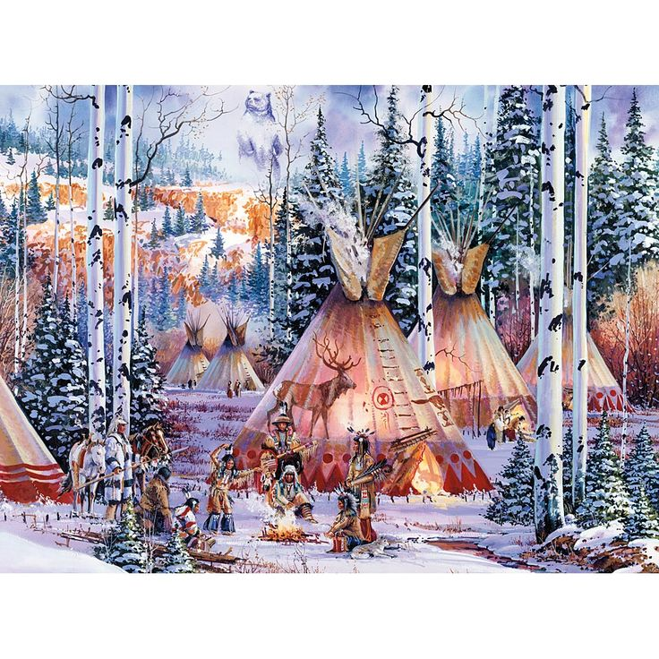 The Bear Spirit 300 Large Piece Glow Jigsaw Puzzle @ Bits and Pieces