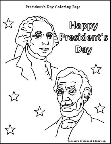Presidents Day Coloring Page | February Crafts ...