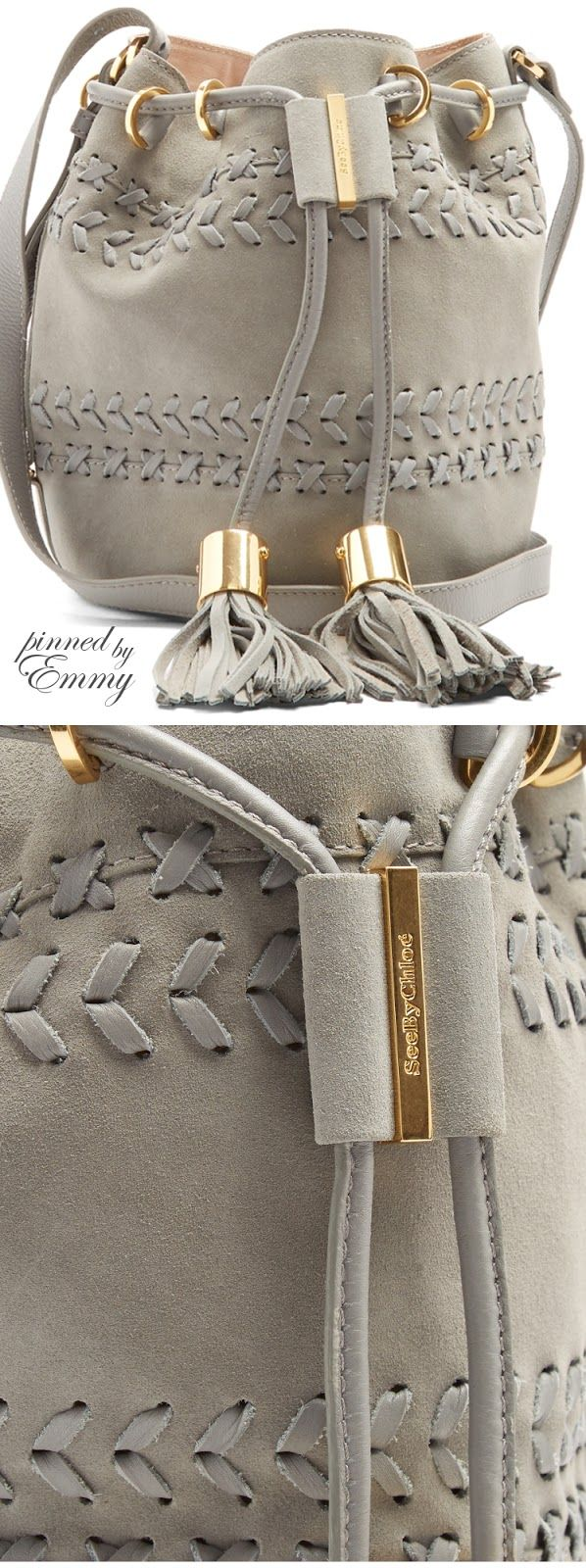 Brilliant Luxury by Emmy DE ♦Chloé Vicki small suede and leather bucket bag