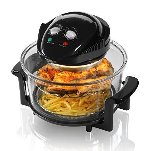 Tower T14001 Halogen Healthy Oil Free Air Fryer 1300 W 17 L  Black This is ranked high among the most popular items bought online in Kitchen category in UK. Click below to see its Availability and Price in YOUR country.