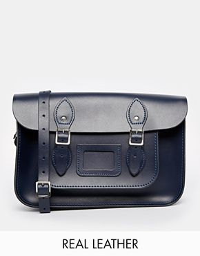 The Leather Satchel Company 12.5'' Navy Satchel
