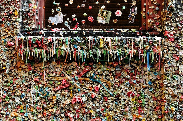 Seattle Gum Wall by Bob Cerelli