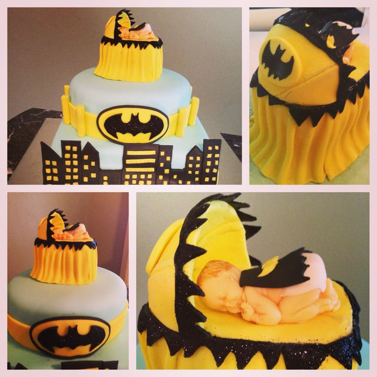 Baby Shower Batman Cake Batman Baby Shower Cake  Facebook.com/cookies4occasions Cookies4occasions@gmail