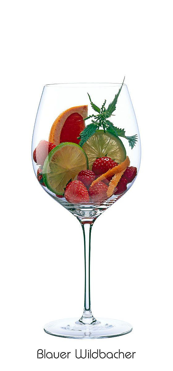 BLUE WILDBACHER  Strawberry, raspberry, blood orange, orange peel, lime, nettle