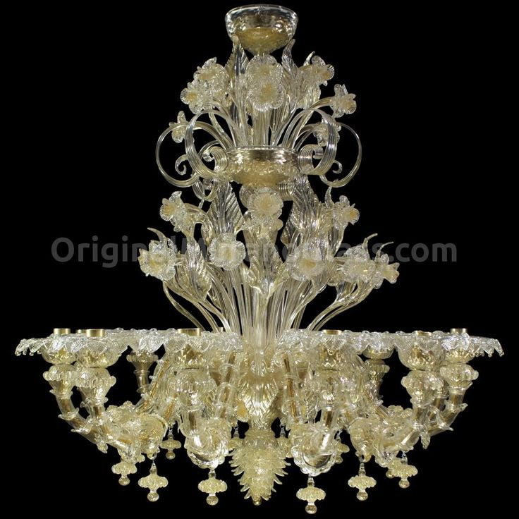 Chandelier King Gold - Rezzonico - Murano Glass - 12 lights