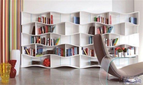 تصاميم عصرية ومميزة للمكتبات المنزلية تزي ن منزلك Bookcase Design Home Library Design Modern Bookshelf Design