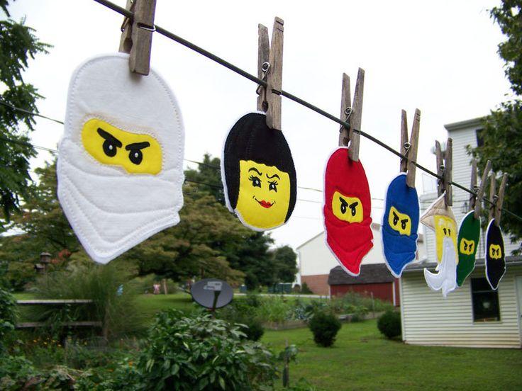 Lego ninjago ninja group 7 iron on patches lloyd zane - Ninjago kai jay zane cole lloyd ...