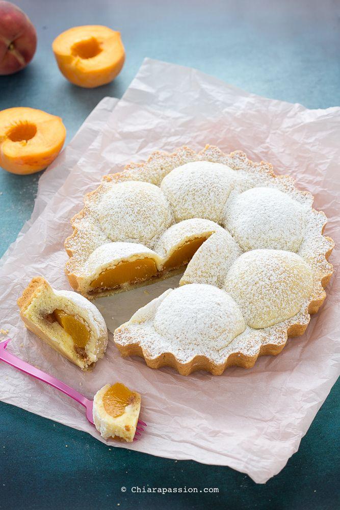 Ricetta Crostata pesche e amaretti facilissima - (Peach and amaretti tart) Chiarapassion