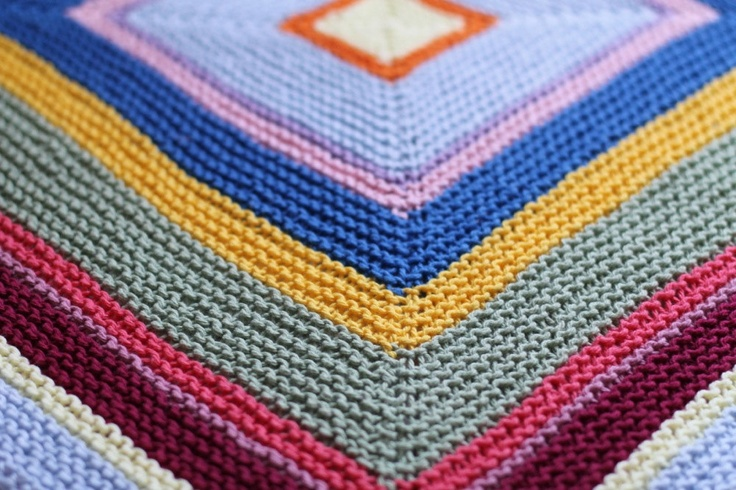Colorful Hand Knit Cotton Baby Blanket Crafty Ideas ...