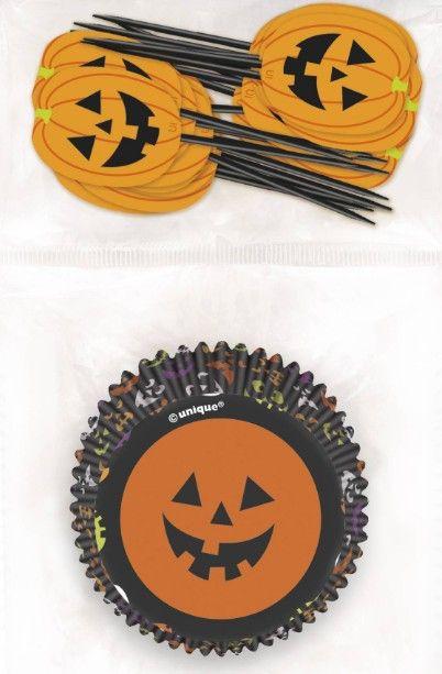 Cupcakes Zucca Halloween 24pz Tutto quello che ci vuole per dei  muffins...da paura! Confezione contenente 24 pirottini di carta e 24 stu… a593c2f8a44
