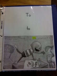 book of sight words using pictures from books. : Books Pages, Class Books, Kindergarten Sight Words, Schools Stuff, Words Wall, Wall Words, Ms M S Blog, Kindergarten Words, Kindergarten Blog